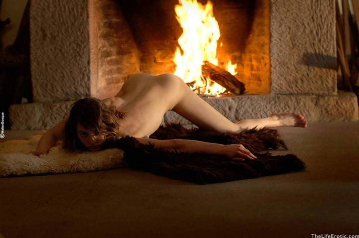 Euro Babes On Poses By The Fireplace Palmtube 1